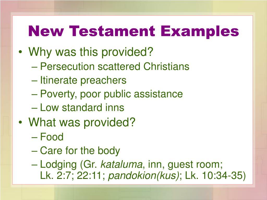New Testament Examples