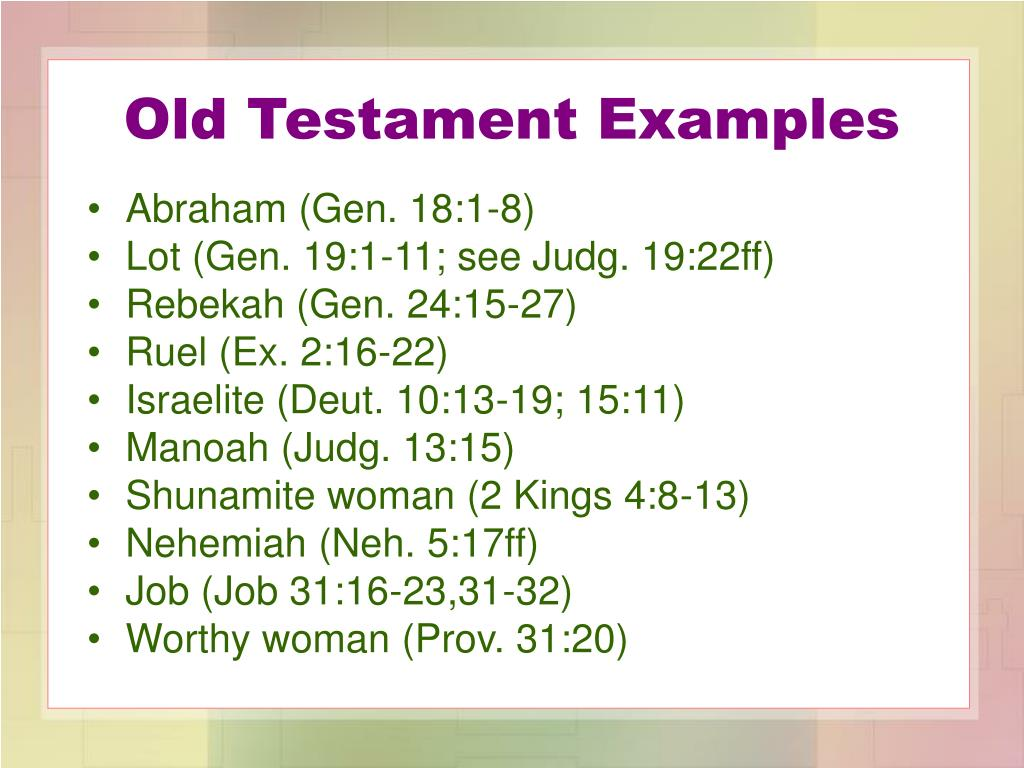 Old Testament Examples
