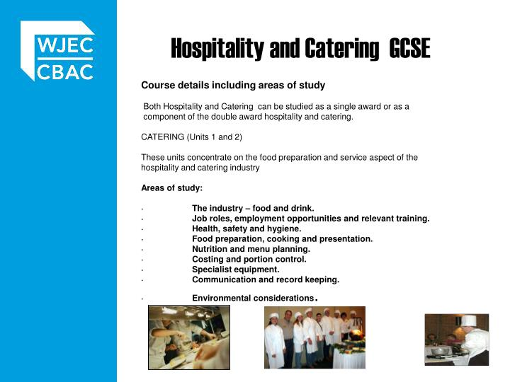 Hospitality and catering gcse
