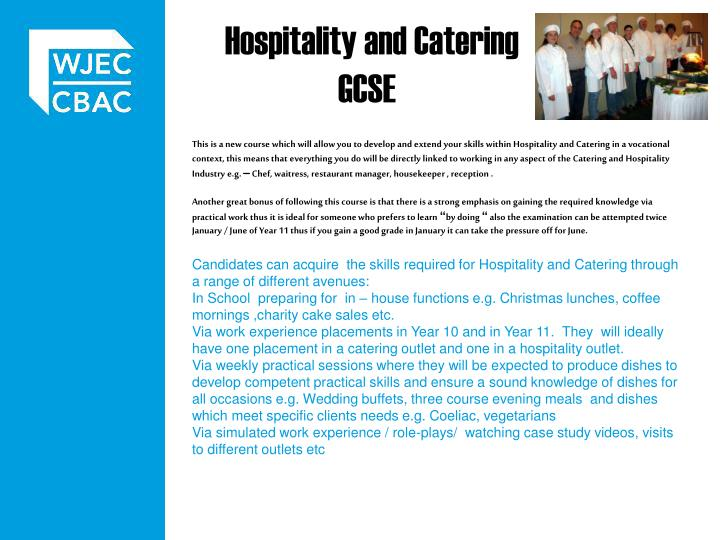 Hospitality and Catering