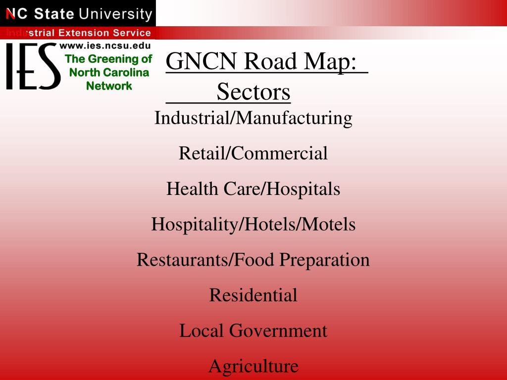 GNCN Road Map:		Sectors