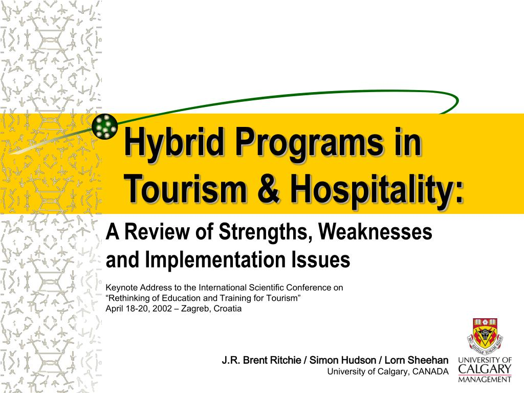 hybrid programs in tourism hospitality
