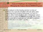 issues challenges for implementing and managing the calgary hybrid bhrm program24