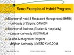 some examples of hybrid programs