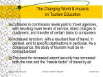 the changing world impacts on tourism education30