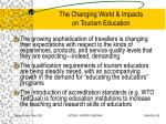 the changing world impacts on tourism education32