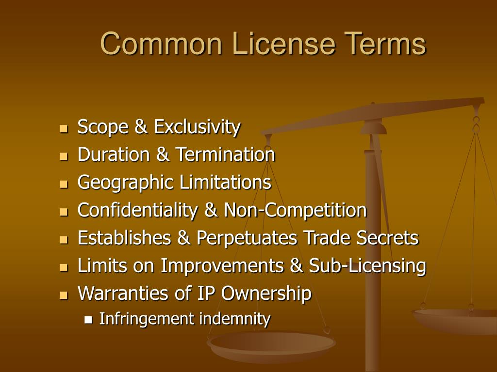 Common License Terms