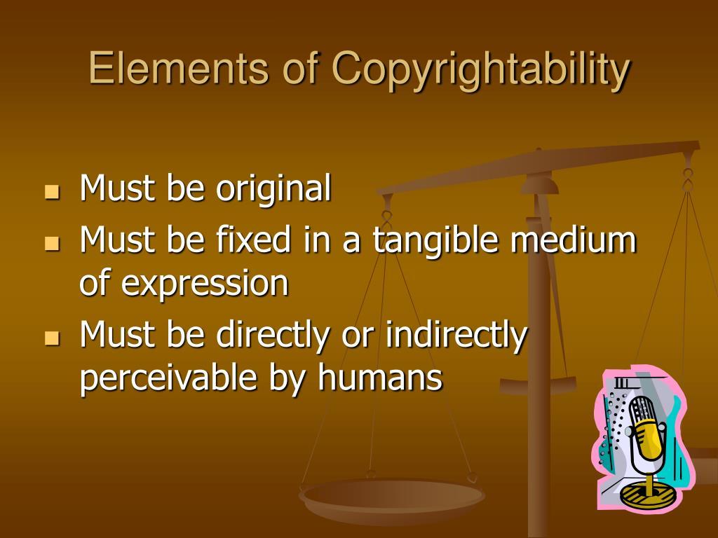 Elements of Copyrightability