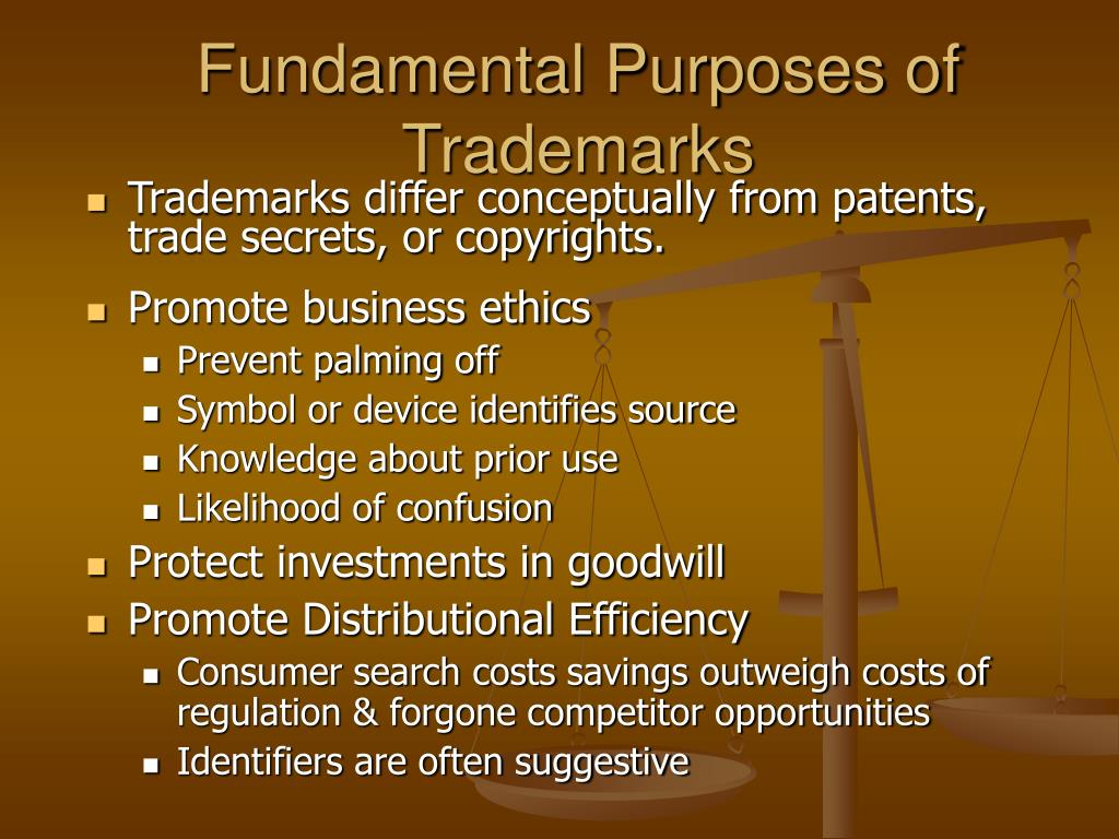 Fundamental Purposes of Trademarks