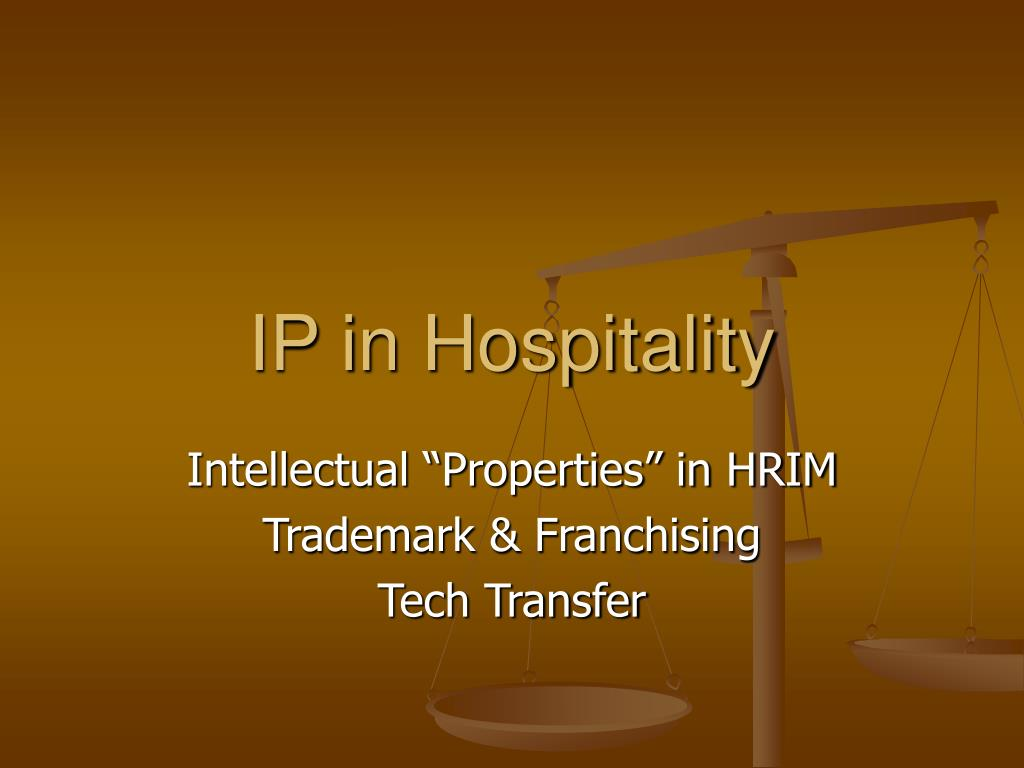 IP in Hospitality