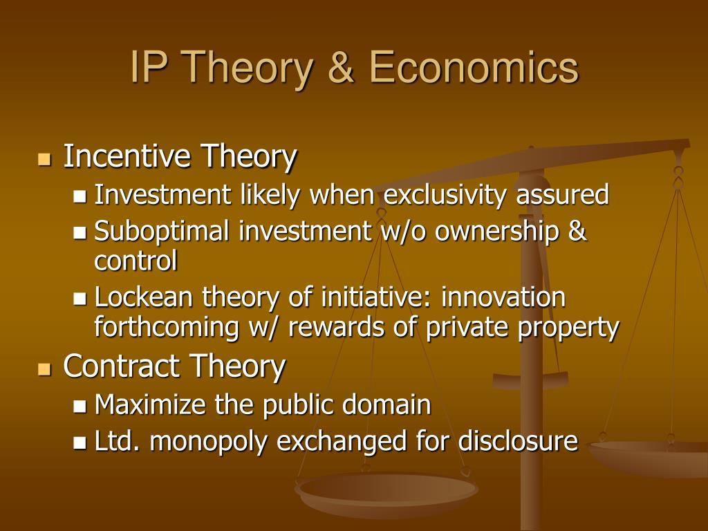 IP Theory & Economics