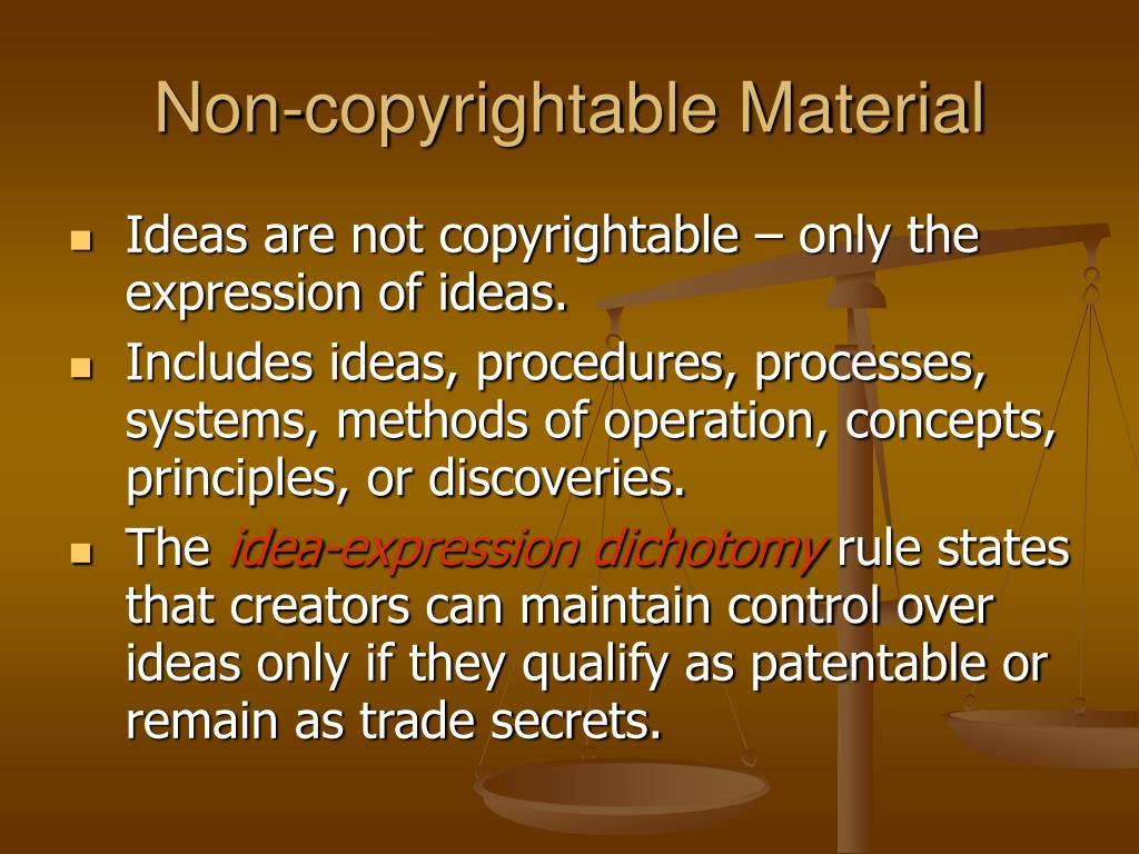 Non-copyrightable Material