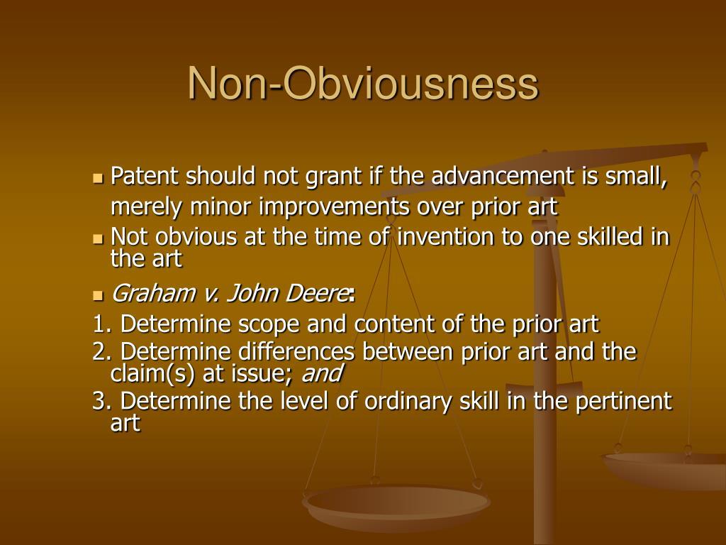 Non-Obviousness