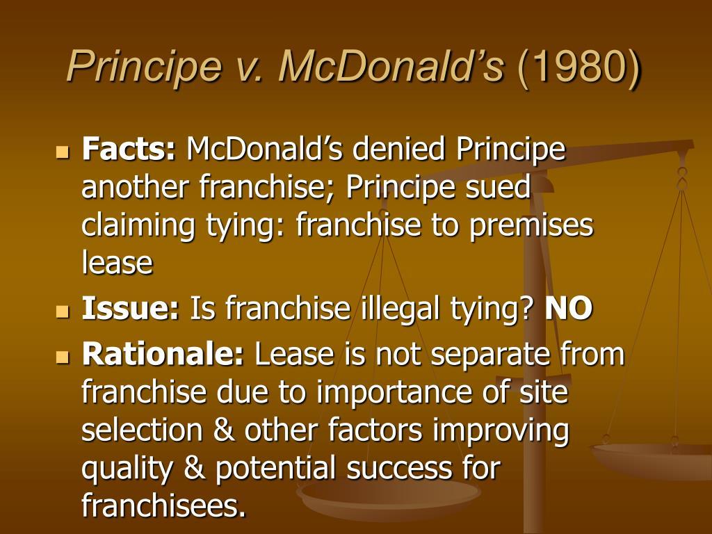 Principe v. McDonald's