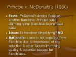 principe v mcdonald s 1980