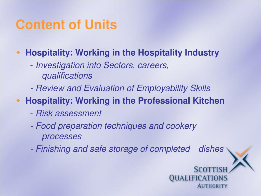 Content of Units