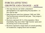 forces affecting growth and change age5