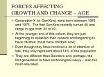 forces affecting growth and change age6