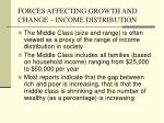 forces affecting growth and change income distribution