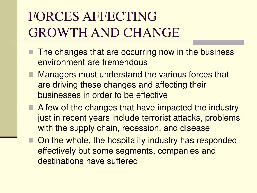 FORCES AFFECTING