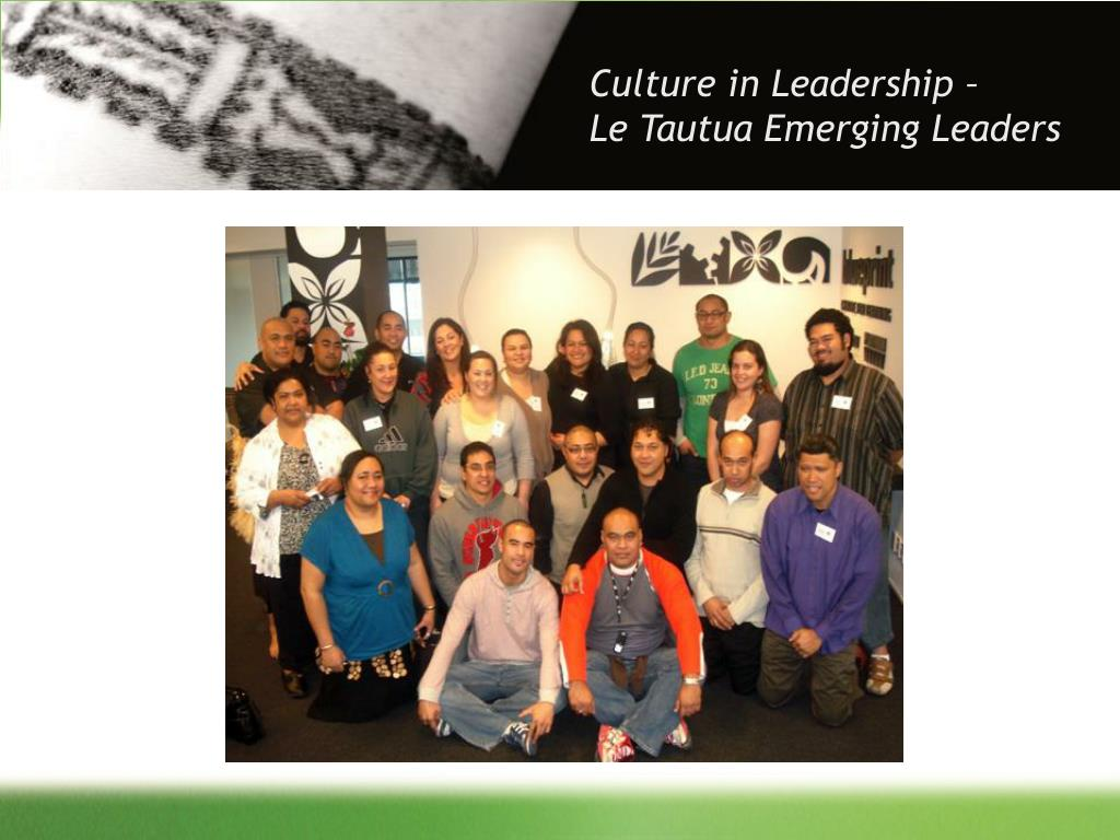 Culture in Leadership –