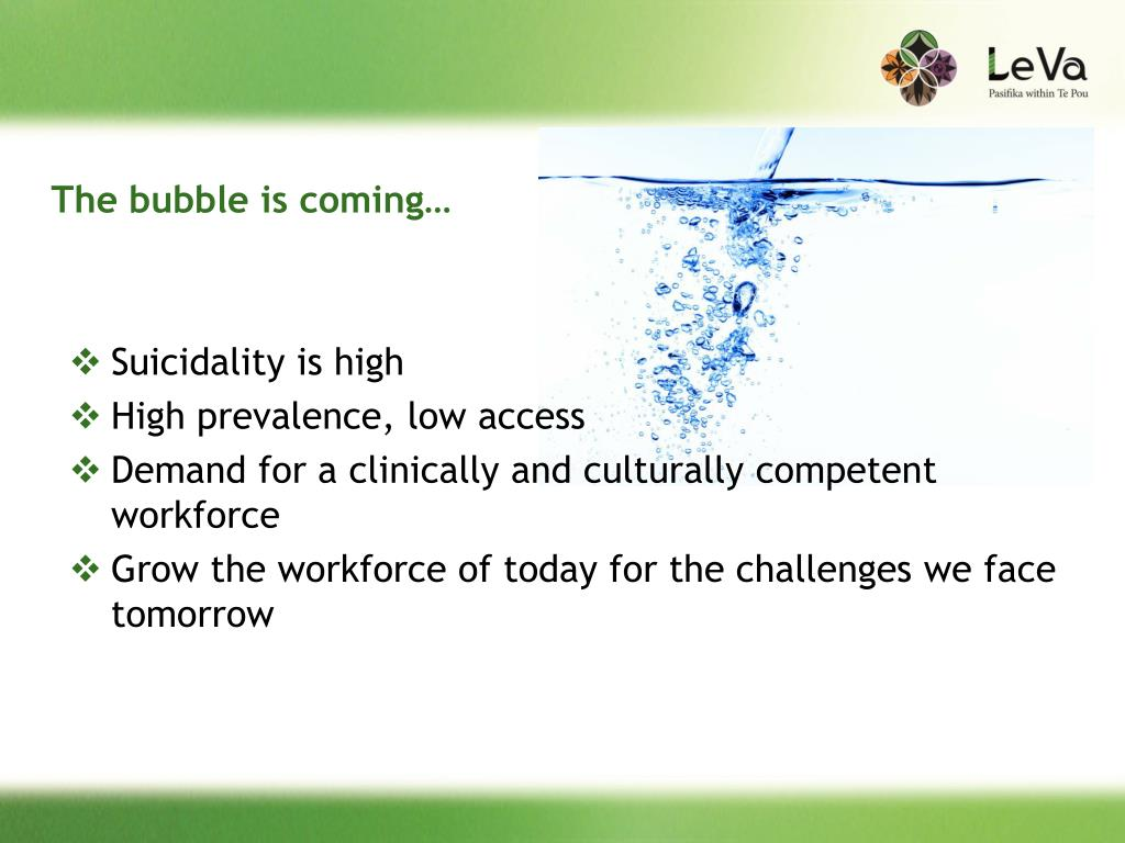 The bubble is coming…