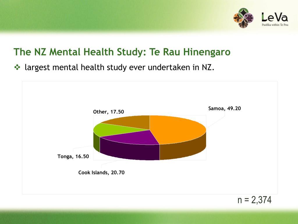 The NZ Mental Health Study: Te Rau Hinengaro
