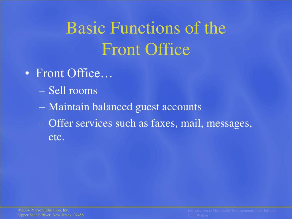 Basic Functions of the