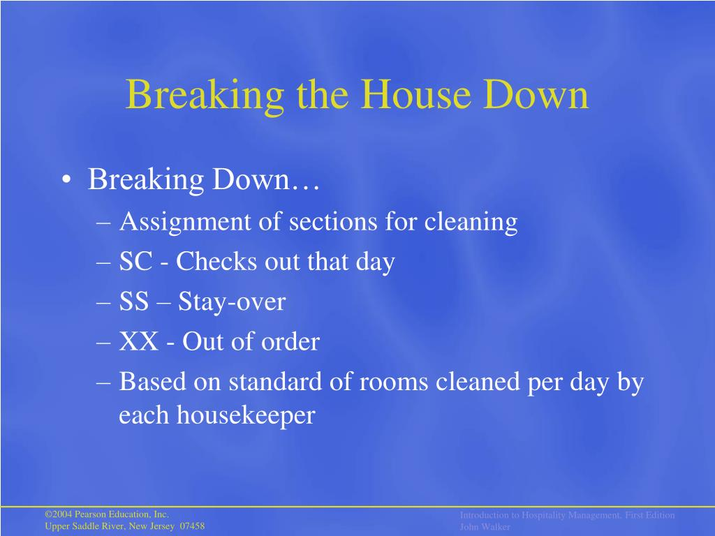 Breaking the House Down