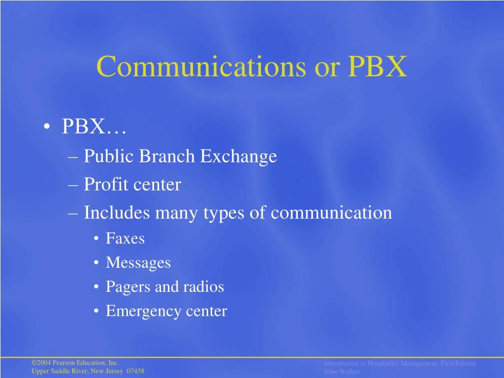 Communications or PBX