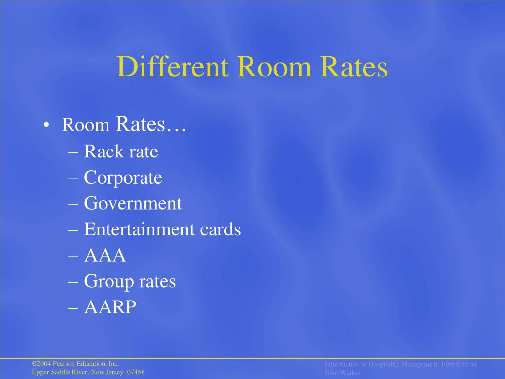 Different Room Rates