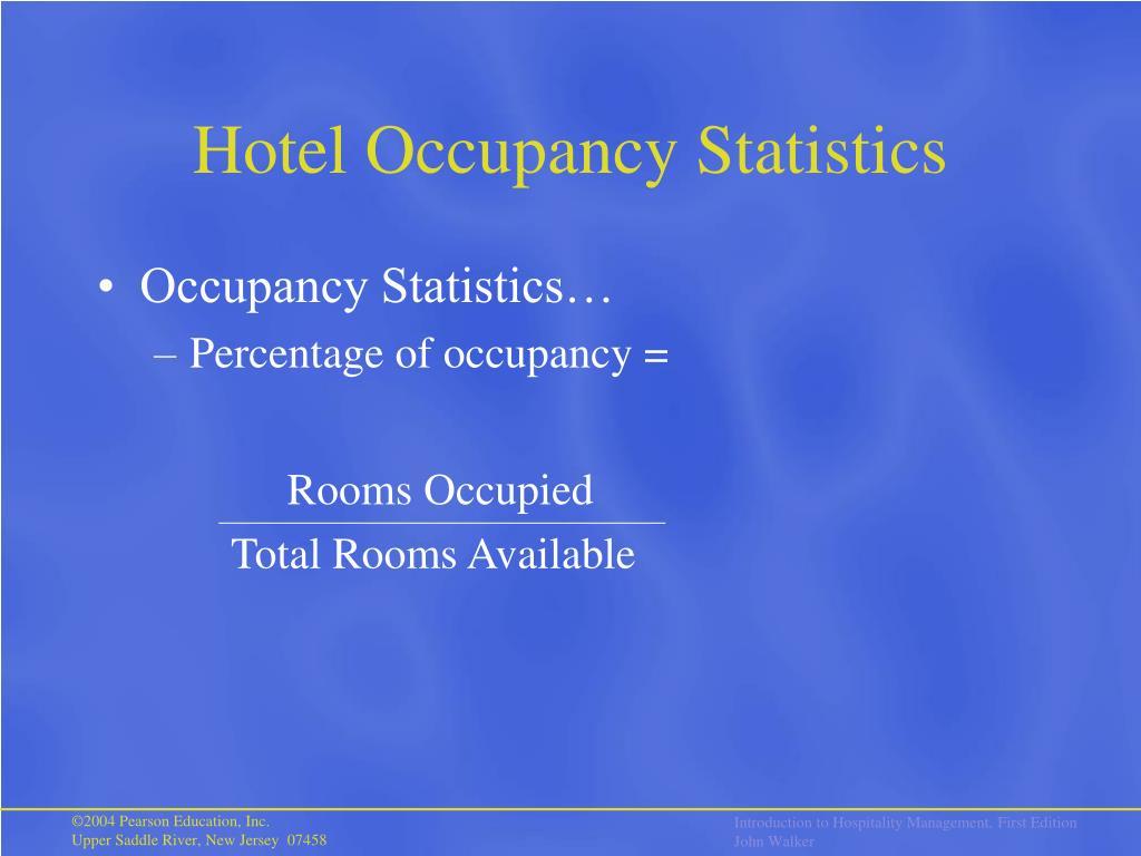 Hotel Occupancy Statistics