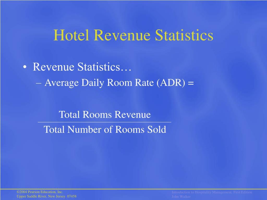 Hotel Revenue Statistics