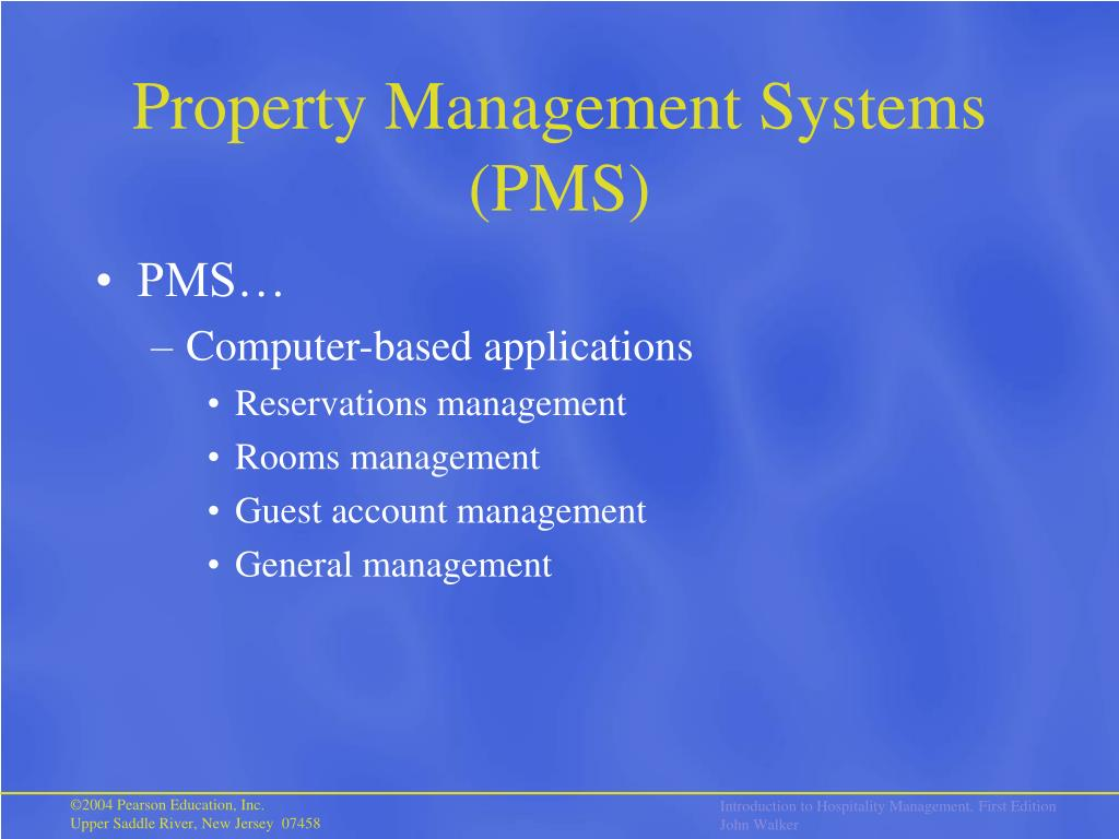 Property Management Systems (PMS)