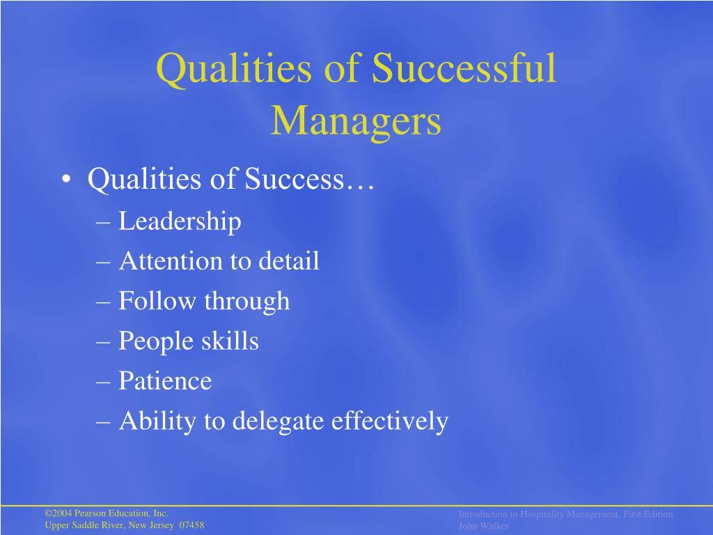 Qualities of Successful