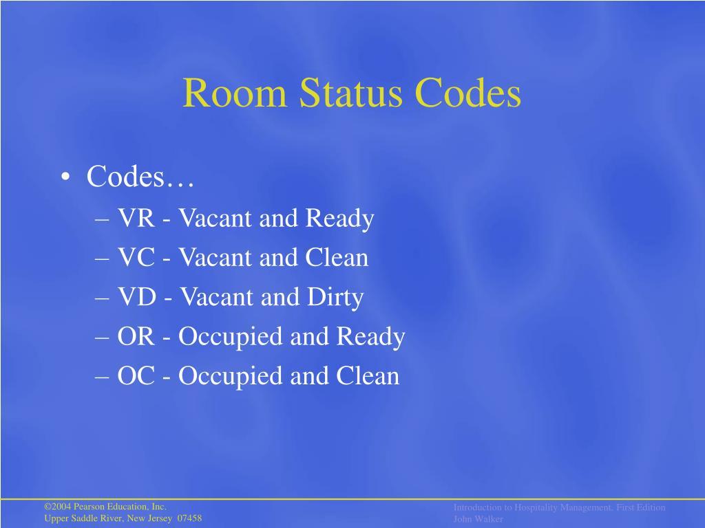Room Status Codes