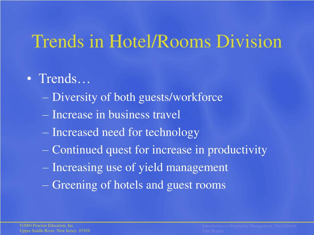 Trends in Hotel/Rooms Division