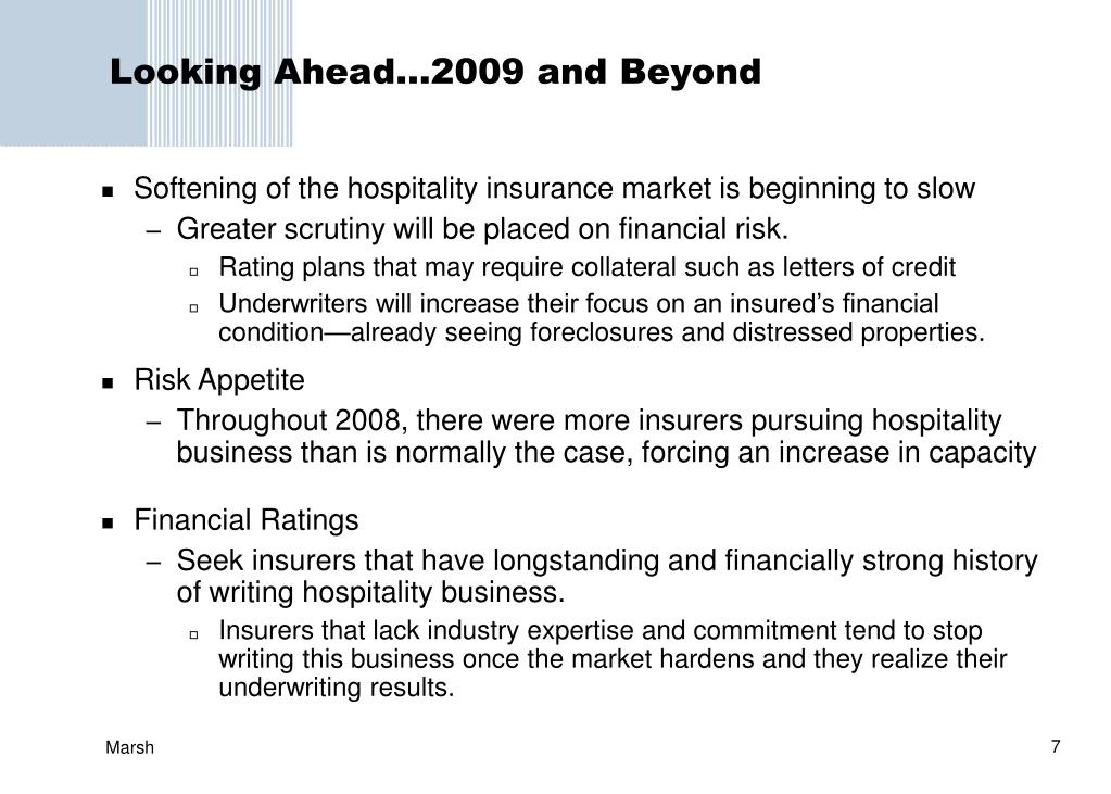 Looking Ahead…2009 and Beyond