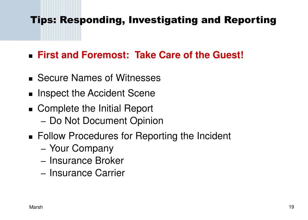 Tips: Responding, Investigating and Reporting