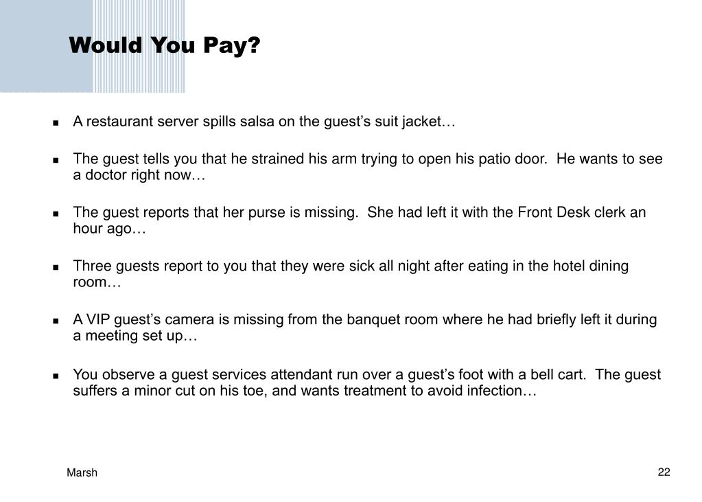Would You Pay?