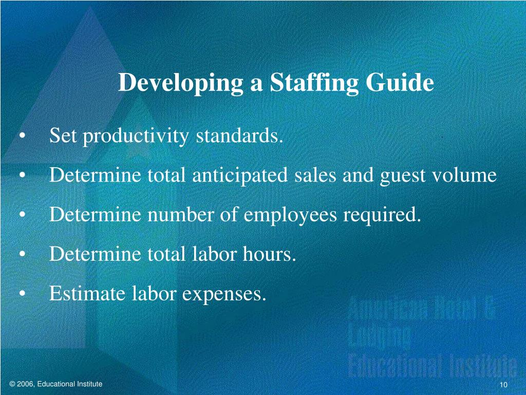 Developing a Staffing Guide