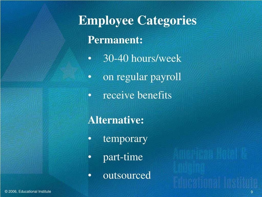 Employee Categories