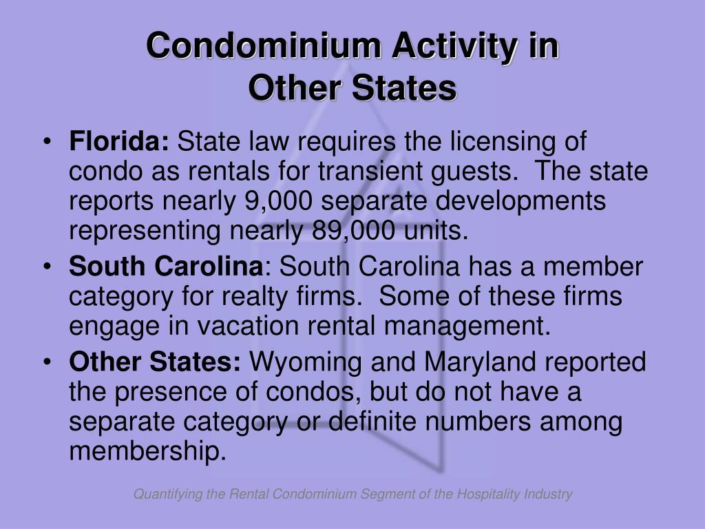 Condominium Activity in