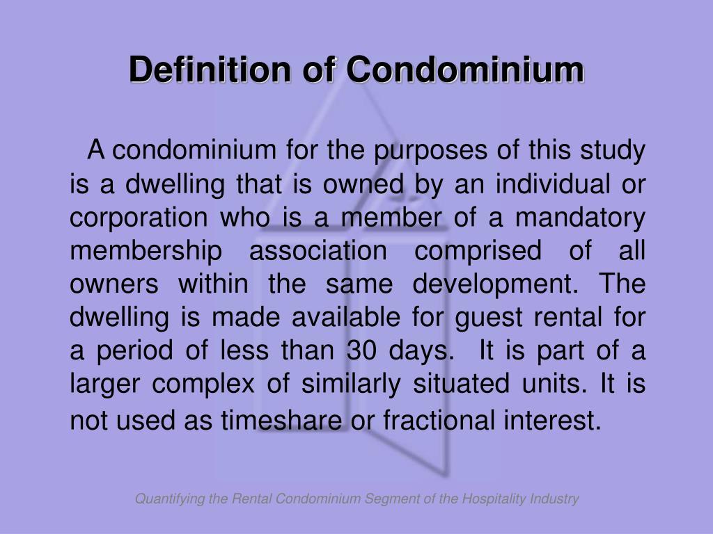 Definition of Condominium