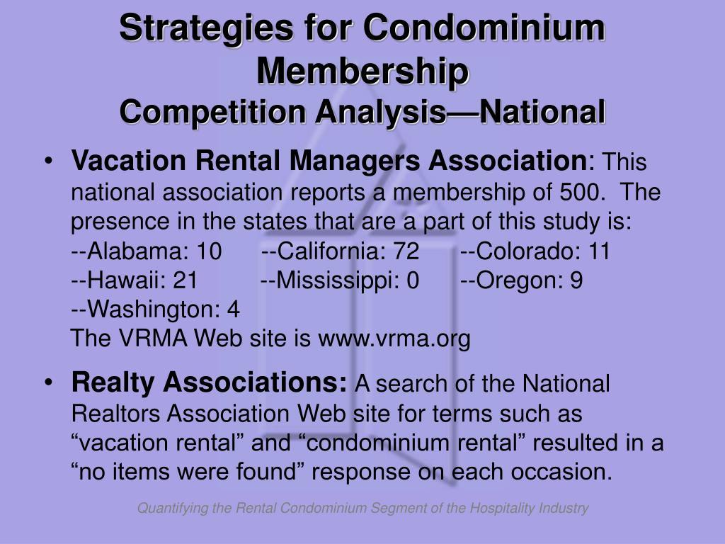 Strategies for Condominium Membership