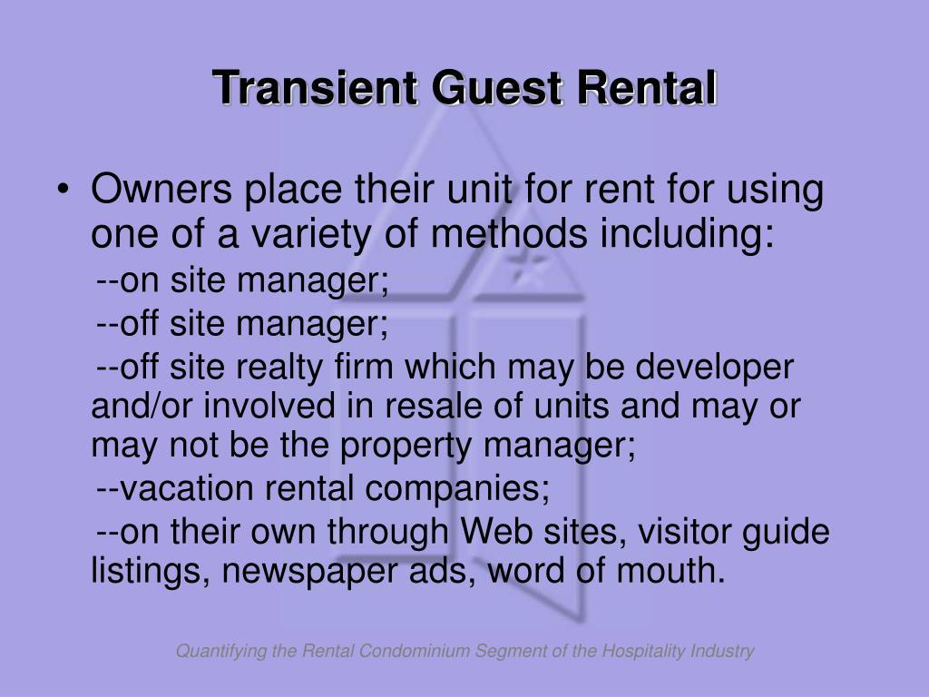 Transient Guest Rental