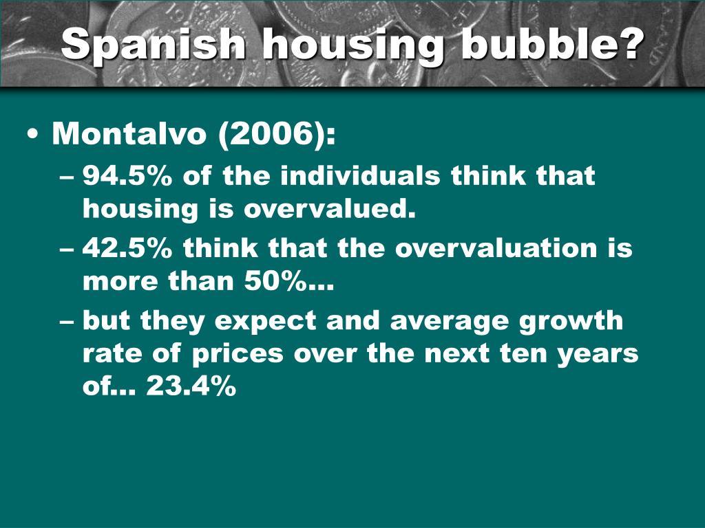 Spanish housing bubble?