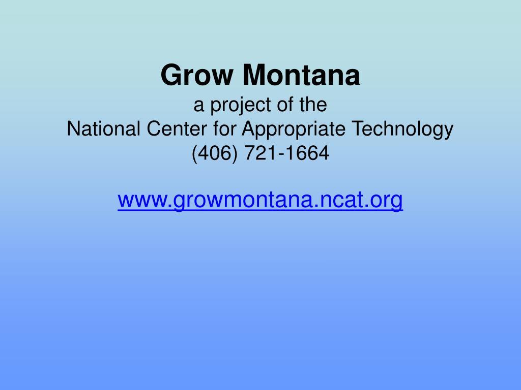 Grow Montana