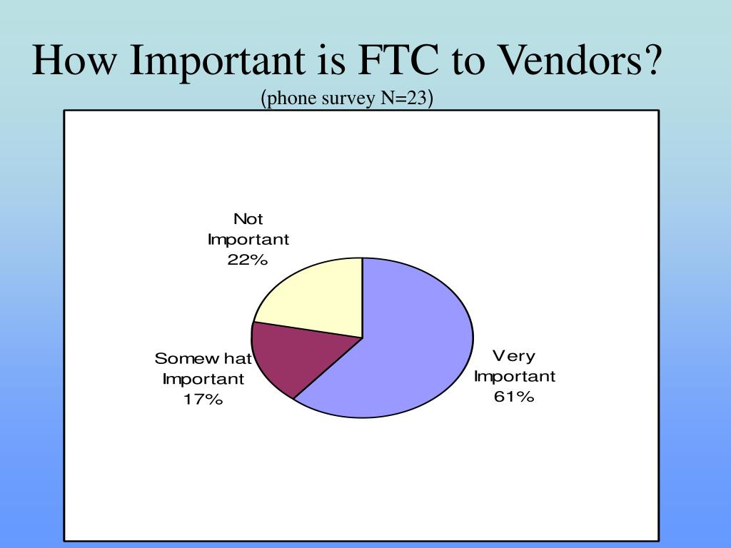 How Important is FTC to Vendors?