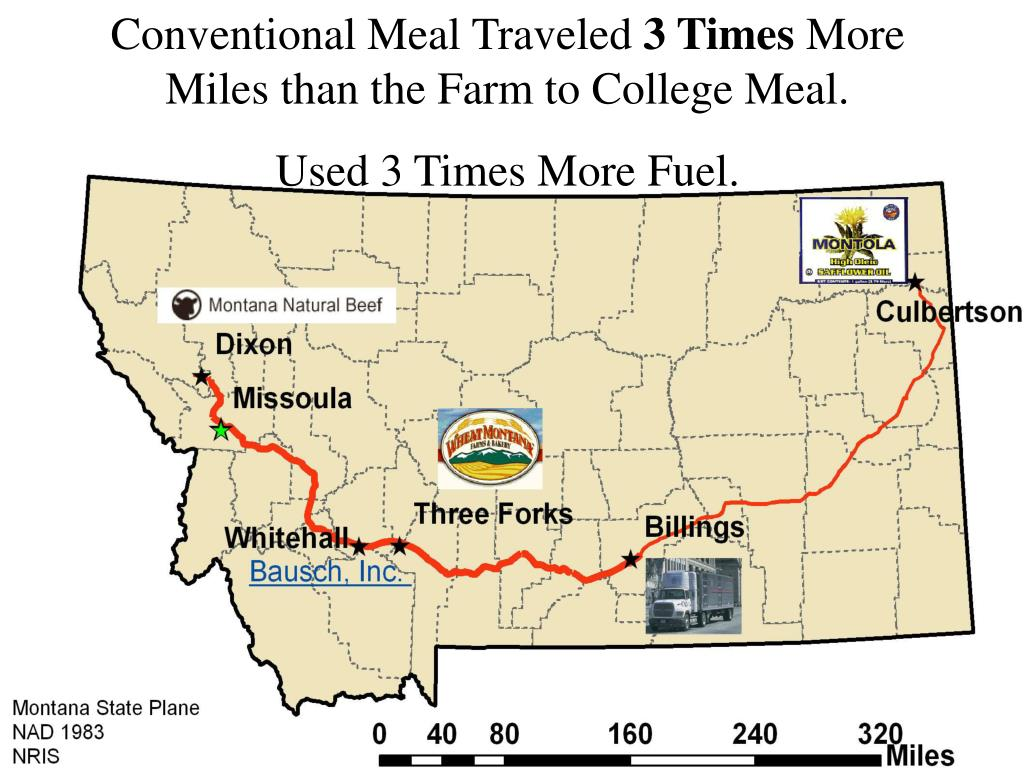 Conventional Meal Traveled